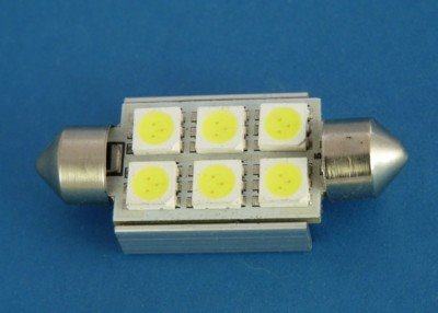 10X36 CAN BUS 6SMD 5050 WHITE