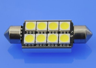 10X42 CAN BUS SMD 5050 WHITE 6 SMD 5050